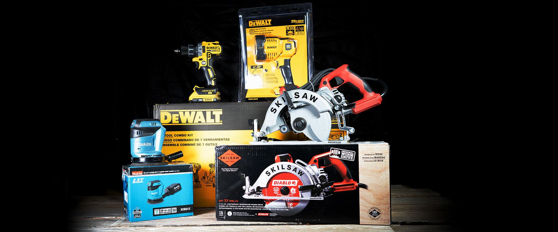 Assorted Tools Dewalt, Makita, etc.